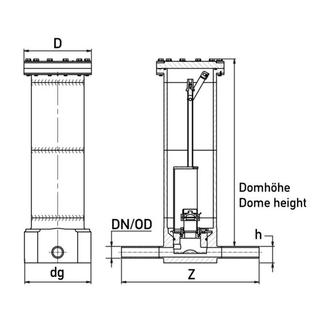 Technische Zeichnung Quick-Pig