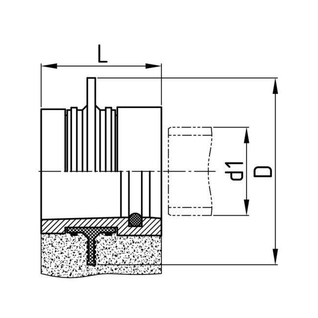 Technische Zeichnung Schachtfutter
