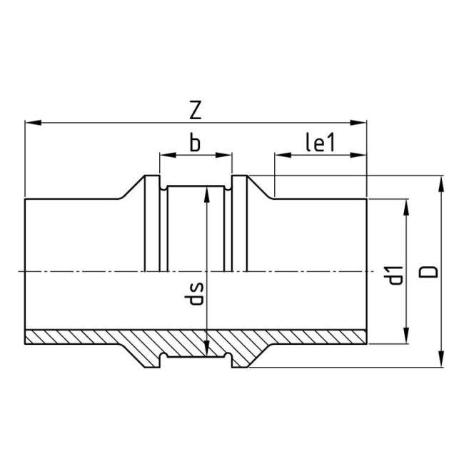 Технический чертеж точки фиксации